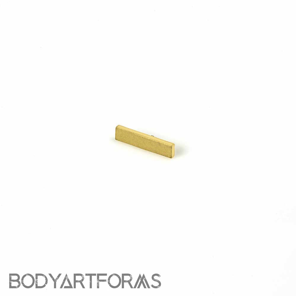 18k Gold Rectangle Threaded End
