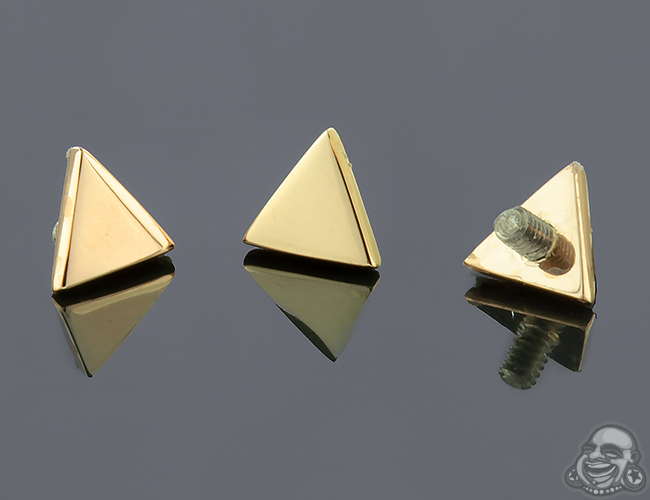 Internally Threaded 18k Gold Triangle End