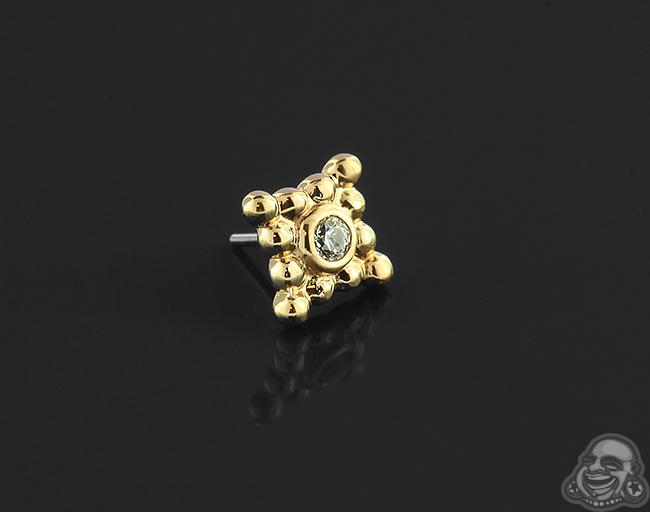 Threadless 18k Gold Sabrina Four Cluster End