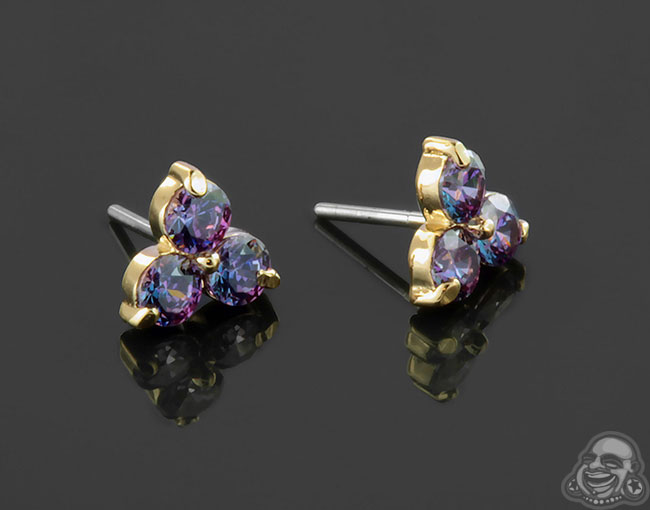 Yellow Gold Lilac Gems