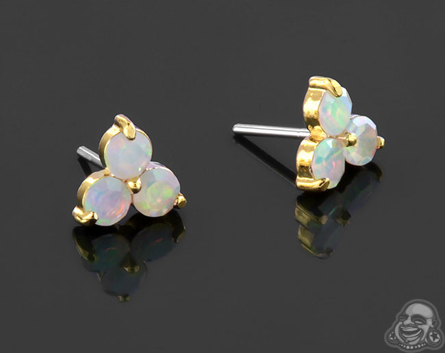 Yellow Gold Faceted Opal