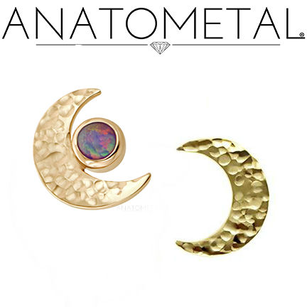 PRE-ORDER 18k Gold Hammered Moon Ends