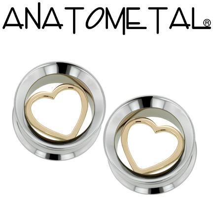 PRE-ORDER Steel Bronze Floating Heart Eyelet