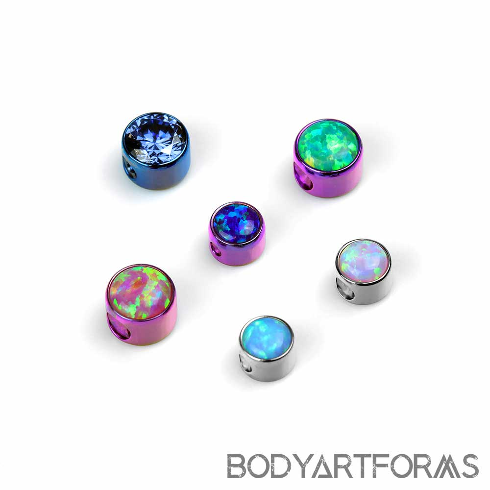 Titanium Bezel Set Captive Beads