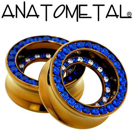 PRE-ORDER Titanium Double Orbit Gemmed Eyelet