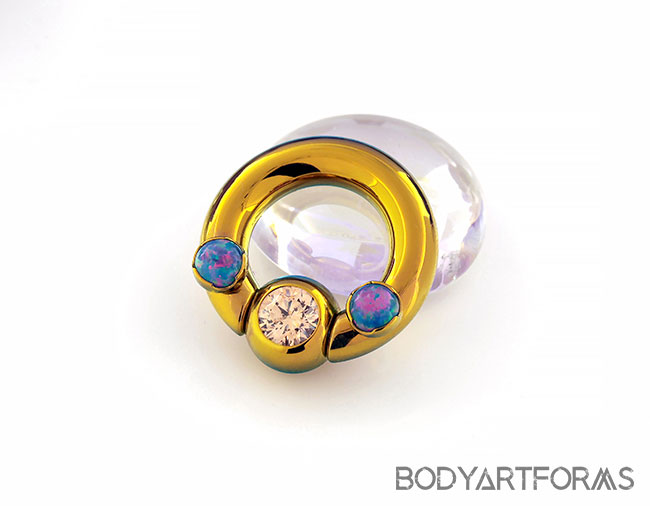 569ec9c9a37 PRE-ORDER Titanium Septum Ring with Gemmed Bead and Prong Set Threaded Ends