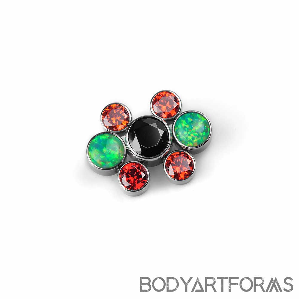 Gem and Opal Cluster Threaded End