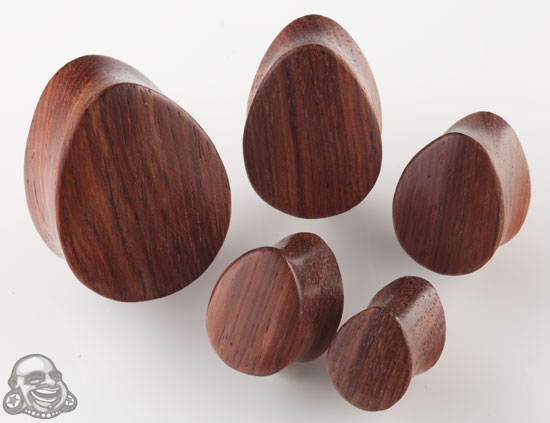 Bloodwood Teardrop Plugs