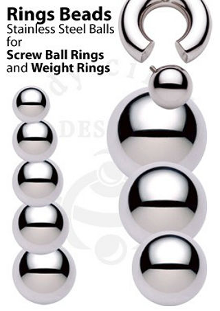 PRE-ORDER Replacement Steel Ball for Screw On Ball Ring