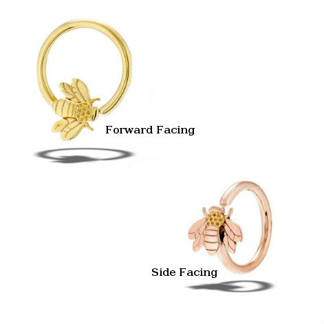PRE-ORDER 14k Gold Bee Fixed Bead Ring