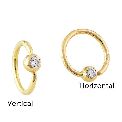 PRE-ORDER14K Gold Fixed Gemmed Bead Ring