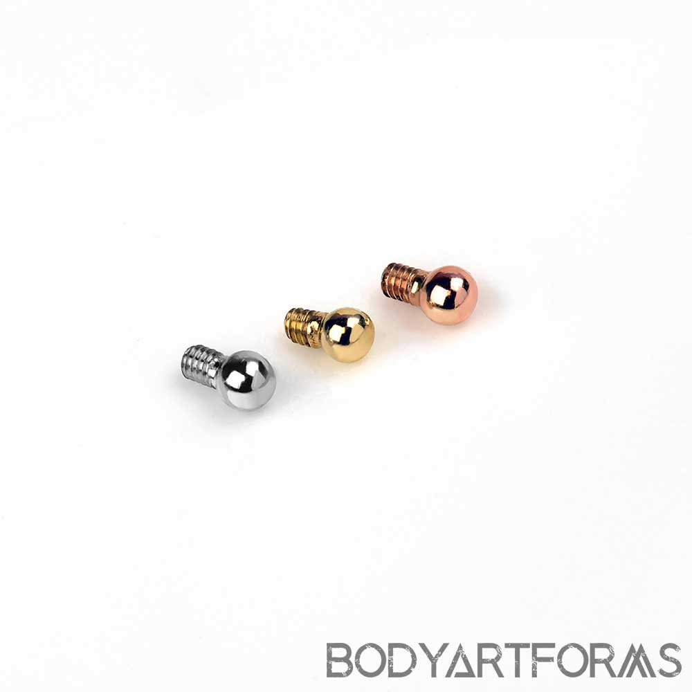 14k Gold Petite Ball Threaded End