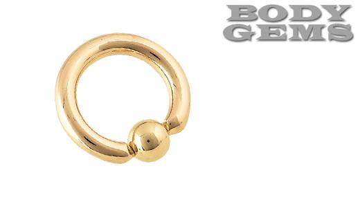 PRE-ORDER 14k Yellow Gold Captive Bead Ring