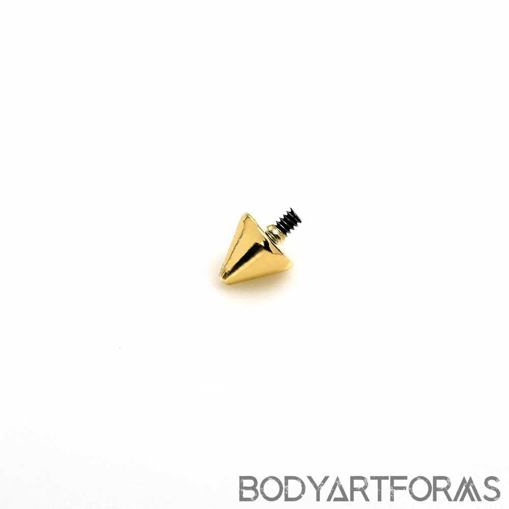 14k Gold Spike Threaded End