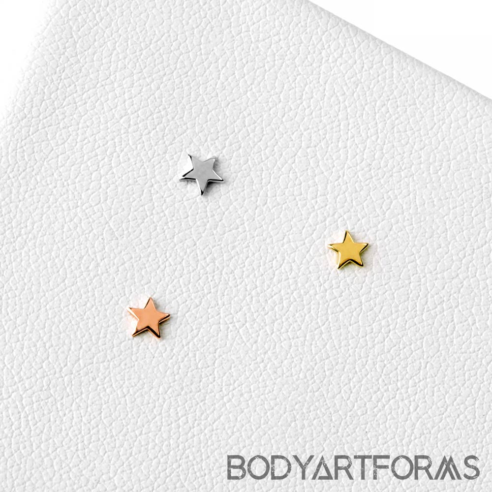 14k Gold Star Threadless End