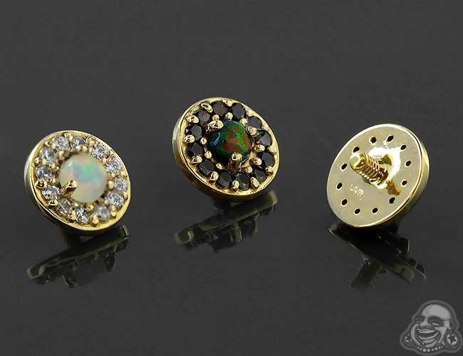 14k Gold Halo Threaded End