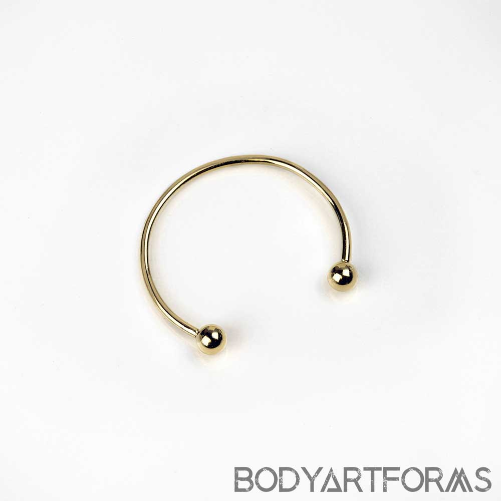 14K Gold Circular Barbell (Externally Threaded)
