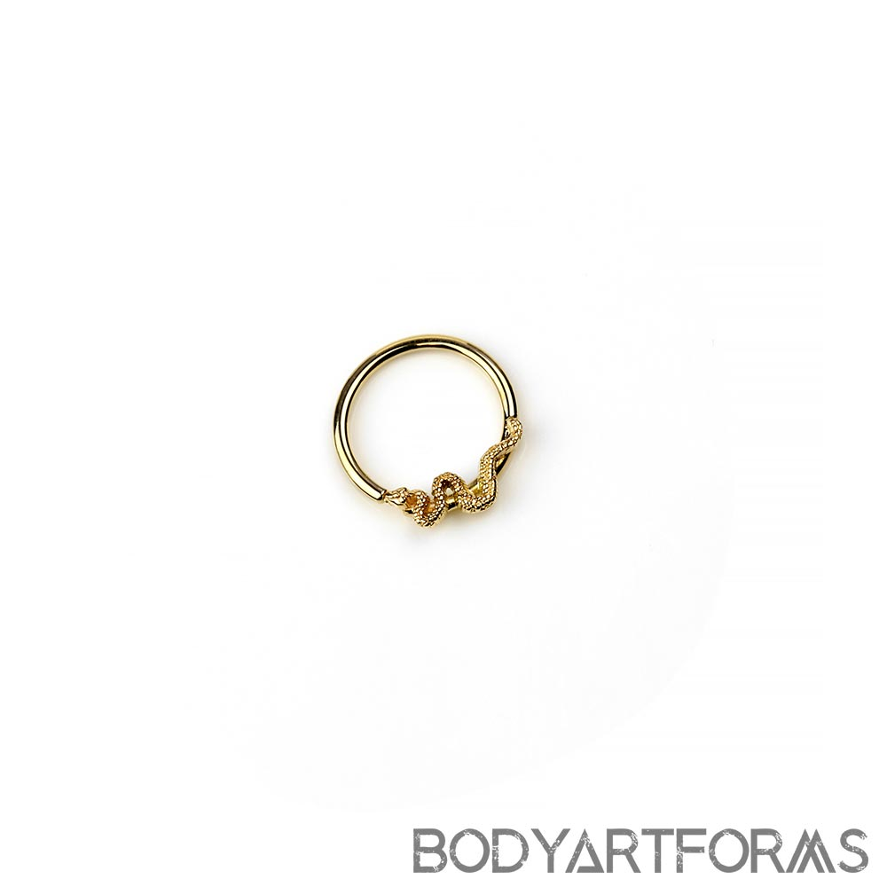 14K Gold Snake Seamless Ring