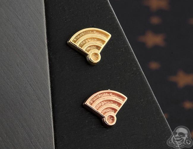 14k Gold Wifi Symbol Threadless End