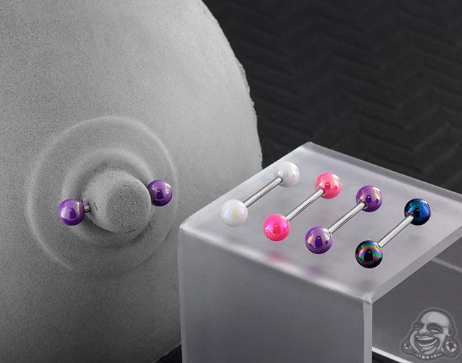 Oilslick Acrylic Ball Barbell
