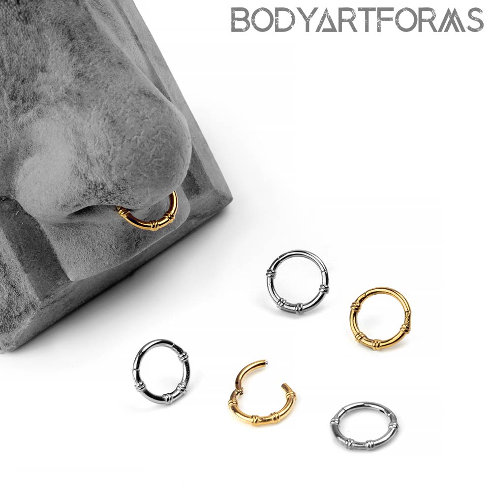 Steel Banded Clicker Ring