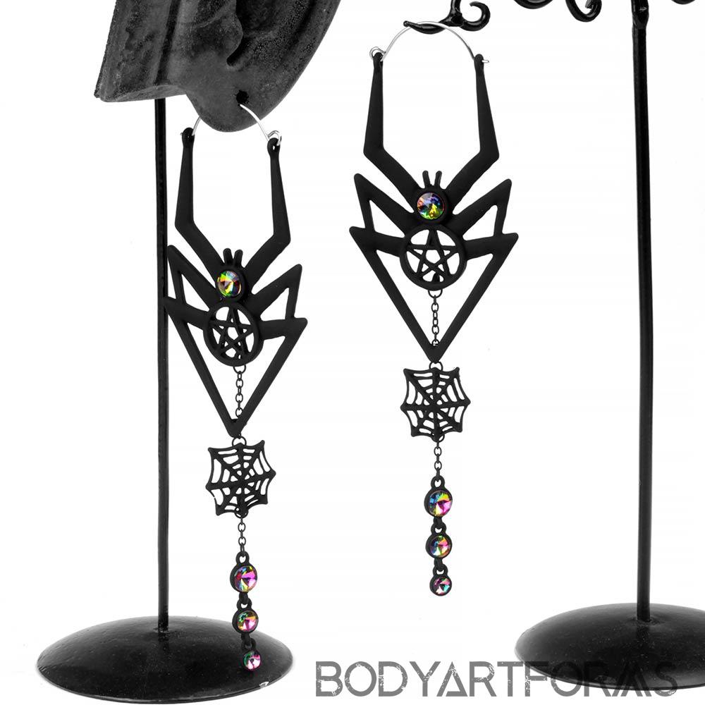 Black Widow Dangle Earrings
