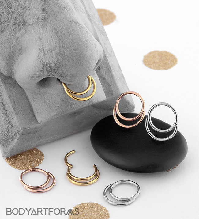 Double Hoop Clicker Ring