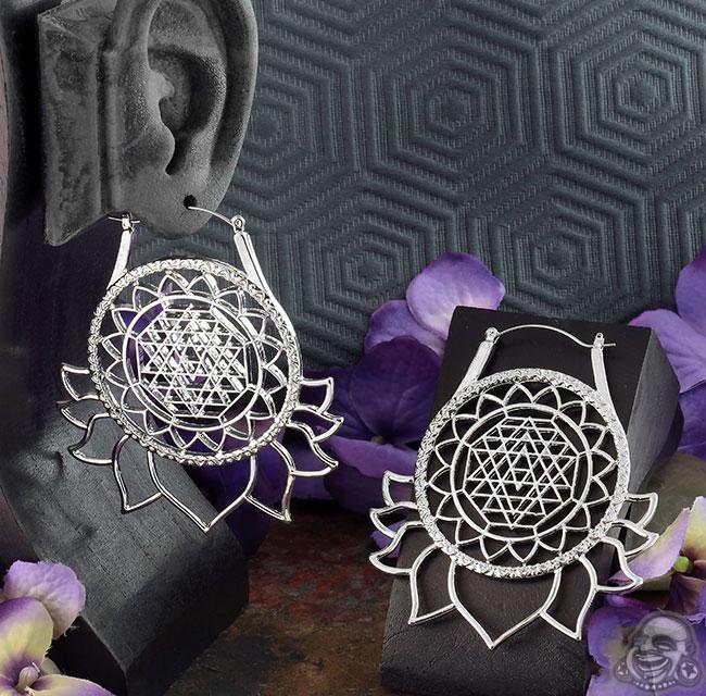 Mandala Lotus Earrings