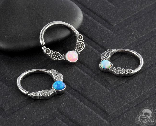 Opal Embellished Seamless Ring