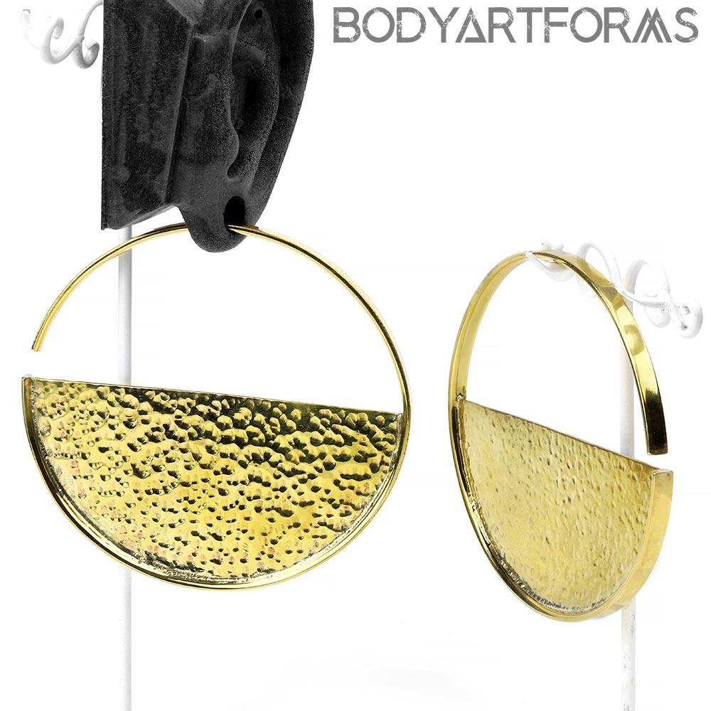 Brass Hammered Disc Weights