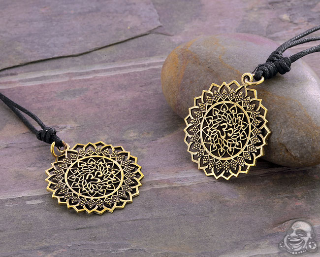 Brass Flower Ohm Necklace