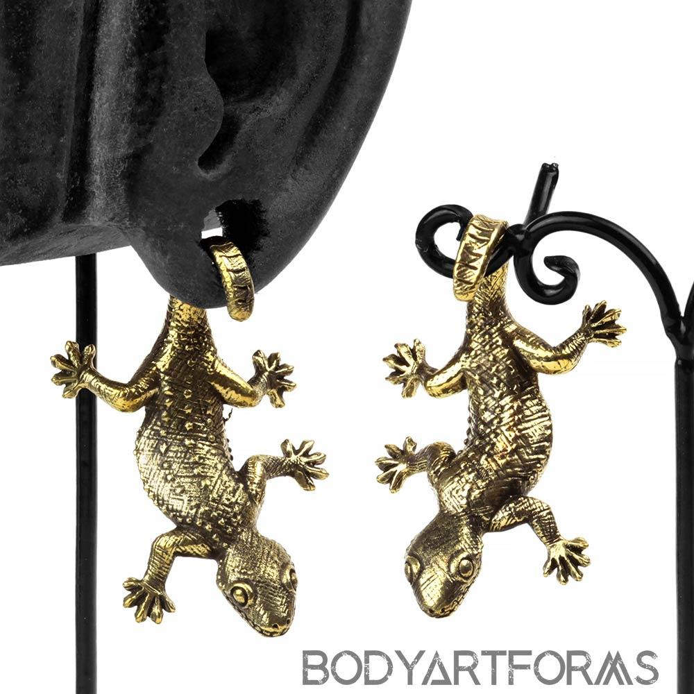 Brass Gecko Weights
