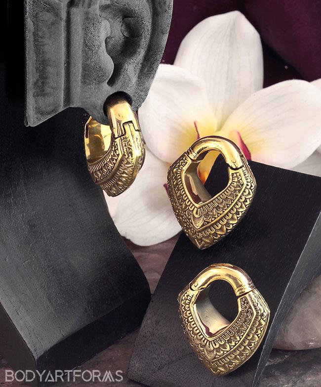 Brass Lotus Diamond Weights