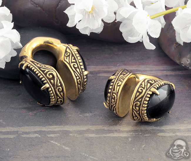 Brass and Black Onyx Creation Weights