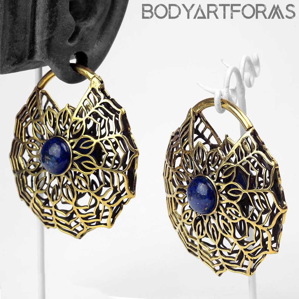 Brass and Lapis Solar Mandala Weights