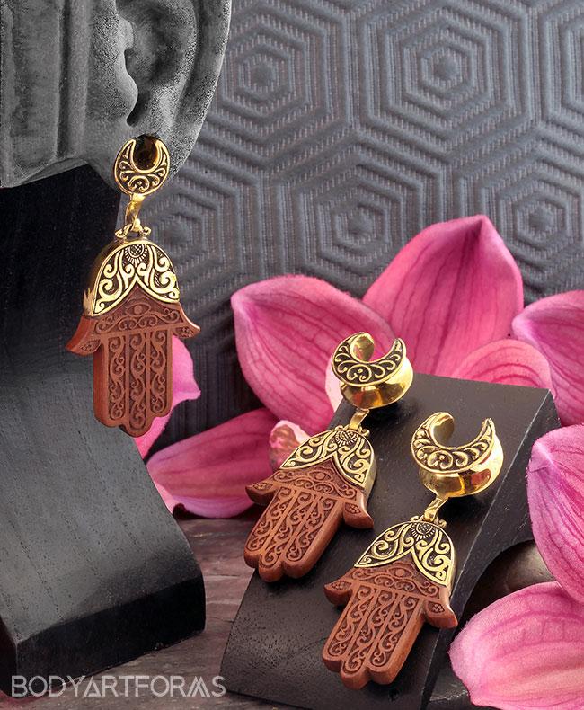 Brass Saddles with Hamsa Dangle