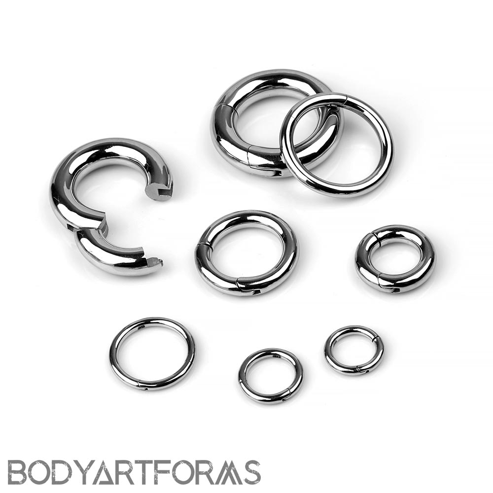 Cobalt Chrome Clicker Ring