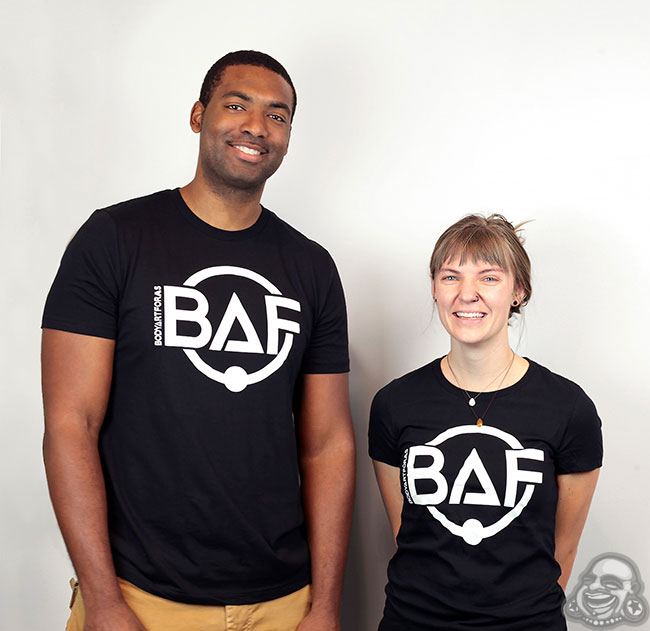 BAF Logo T-Shirt (White On Black)