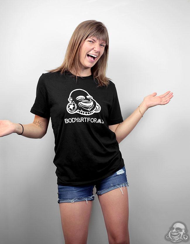 BAF T-Shirt (White On Black)