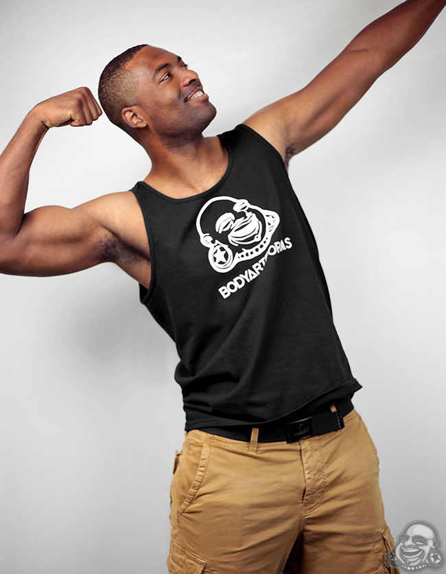 BAF Guys Tank Top (White On Black)