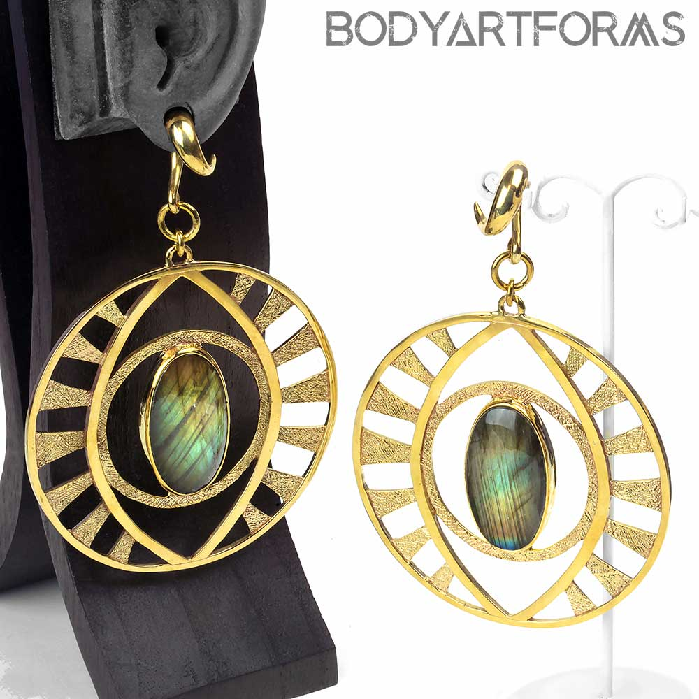 Solid Brass and Labradorite Eyes of Bosco
