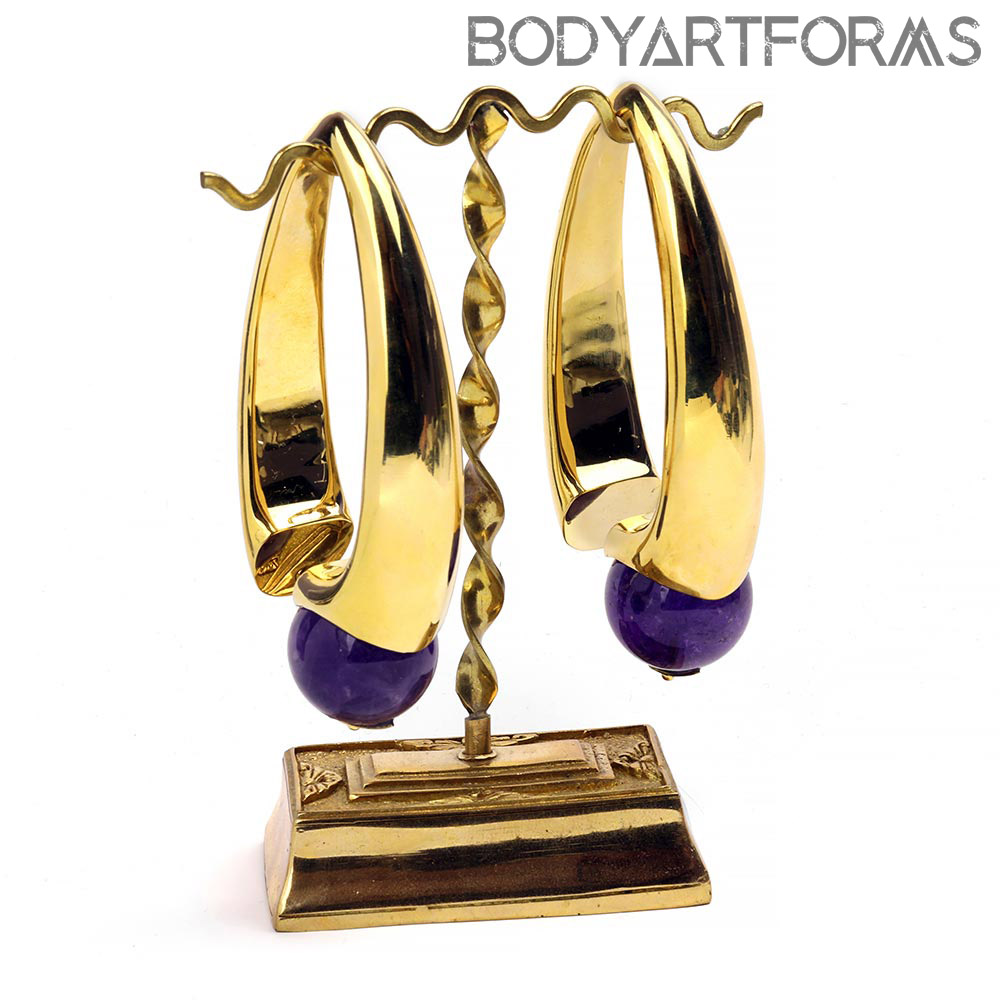 Brass Nova Design with Amethyst