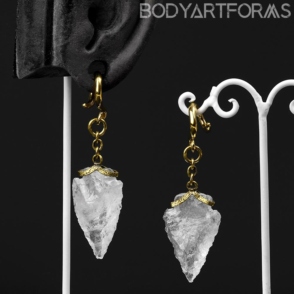 Solid Brass and Quartz Arrowhead Weights