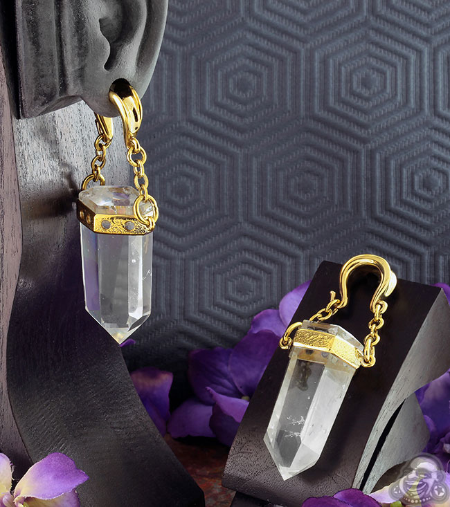 Solid Brass and Quartz Crystal Bit Weights