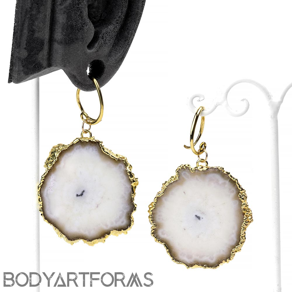 Brass and Gold Dipped Stalactite Slices