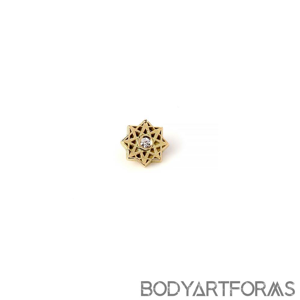 14K Gold Estrella Internally Threaded End