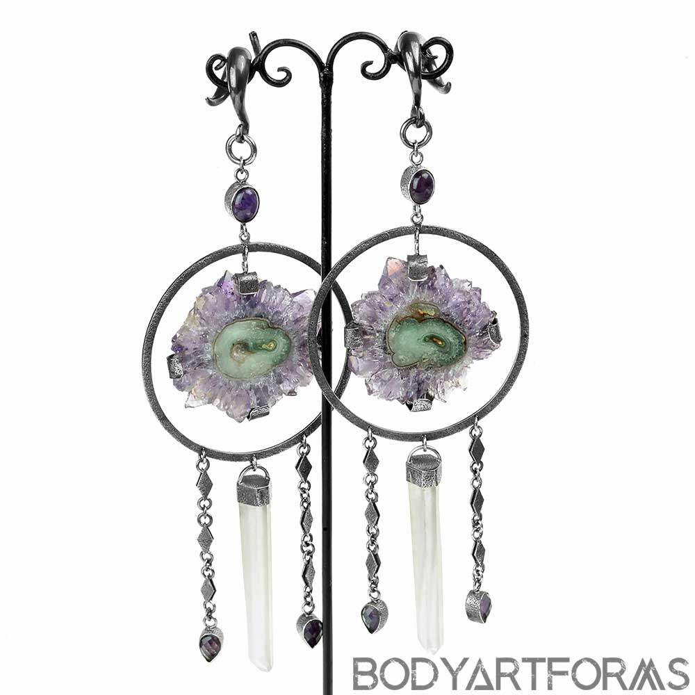 Amethyst Stalactite and Crystal Weights