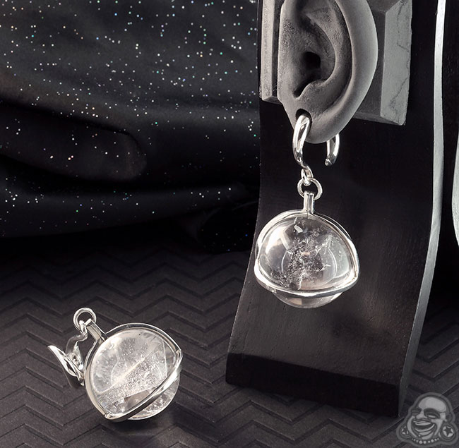Silver and Quartz Globe Weights