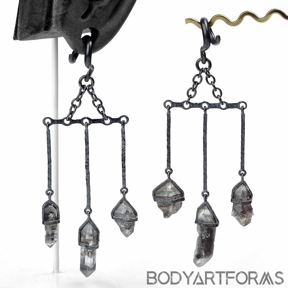 Silver and Tibetan Quartz Dangle Weights