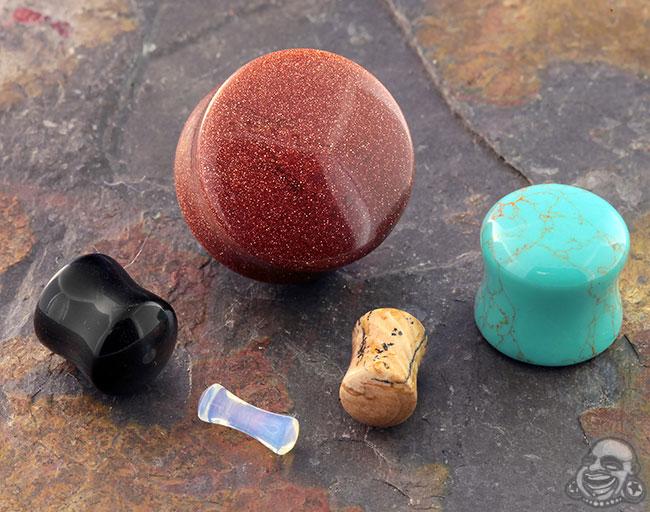 Stone and Glass Plugs